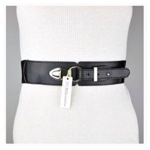 BCBGENERATION WAIST BELT BLACK VEGAN LEATHER